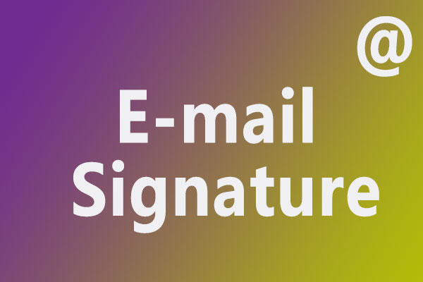 中文+英文邮箱长短签名模板